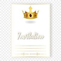 Card or invitation with a realistic crown