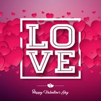 Love, Happy Valentines Day Design