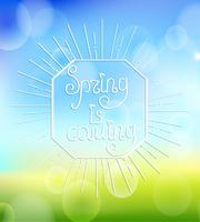 Spring is coming with sunbrust. vector