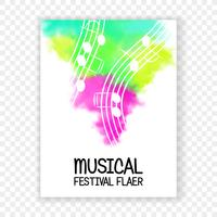 Live music vector.