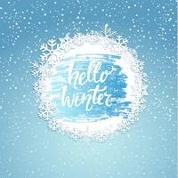 Hello winter geeting card. vector