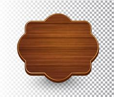 Wooden isolated retro vintage frame template