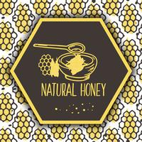 Vector natural honey banners. Bio hand drawn set.
