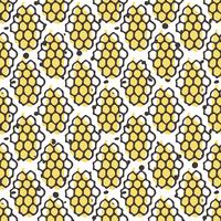 Vector de miel natural de patrones sin fisuras. Bio diseño dibujado a mano.