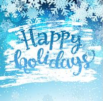 Happy holidays geeting card.