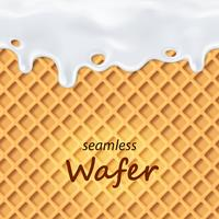 Seamless wafer and dripping milk repeatable vector