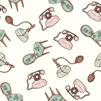 Vintage furniture seamless pattern.