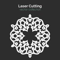 Modello di taglio laser. Carta rotonda Die Cut Mangala