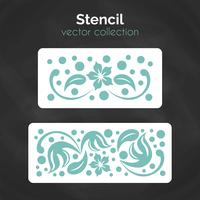 Stencil. Laser cuting template. Pattern for decorative panel. vector