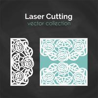 Laser Cut Template. Card For Cutting. Cutout Illustration vector