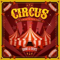 Vintage Circus Poster With Big Top