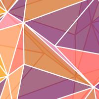 Low Poly Abstract in korallenroten Farben