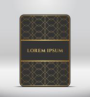 Elegante look premium. Forma di carta grigio scuro con motivo dorato. Illustrazione vettoriale