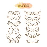 Angel Wings in Line Style.