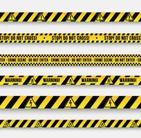 Vektor Warnzeichen und Bänder.
