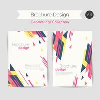 Geometrisk broschyr A4