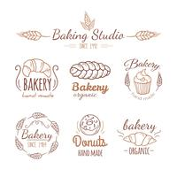 Bakery logo elements. vector