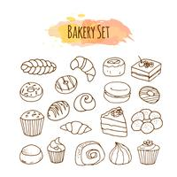 Bagerielement. Pastry illustration.
