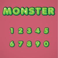 Serie di caratteri comica verde da un composto, illustrazione di vettore