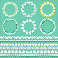 Easter borders and circle frames
