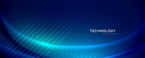 technology banner design with light effects