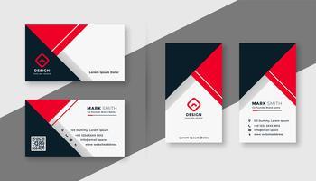 modern röd geometrisk visitkortmall
