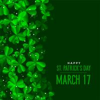 st patricks day green leaves background