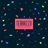 dunkler bunter Terrazzo-Musterhintergrund