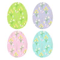 floral patterns on Easter eggs	 vector