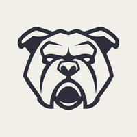 Bulldog mascotte vector pictogram
