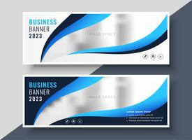 stylish blue presentation business banner template