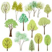 gráficos de árvore texturizada de vetor