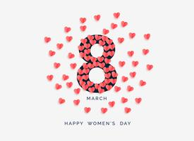 women's day background with hearts