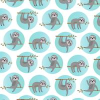 sloth pattern with blue circles