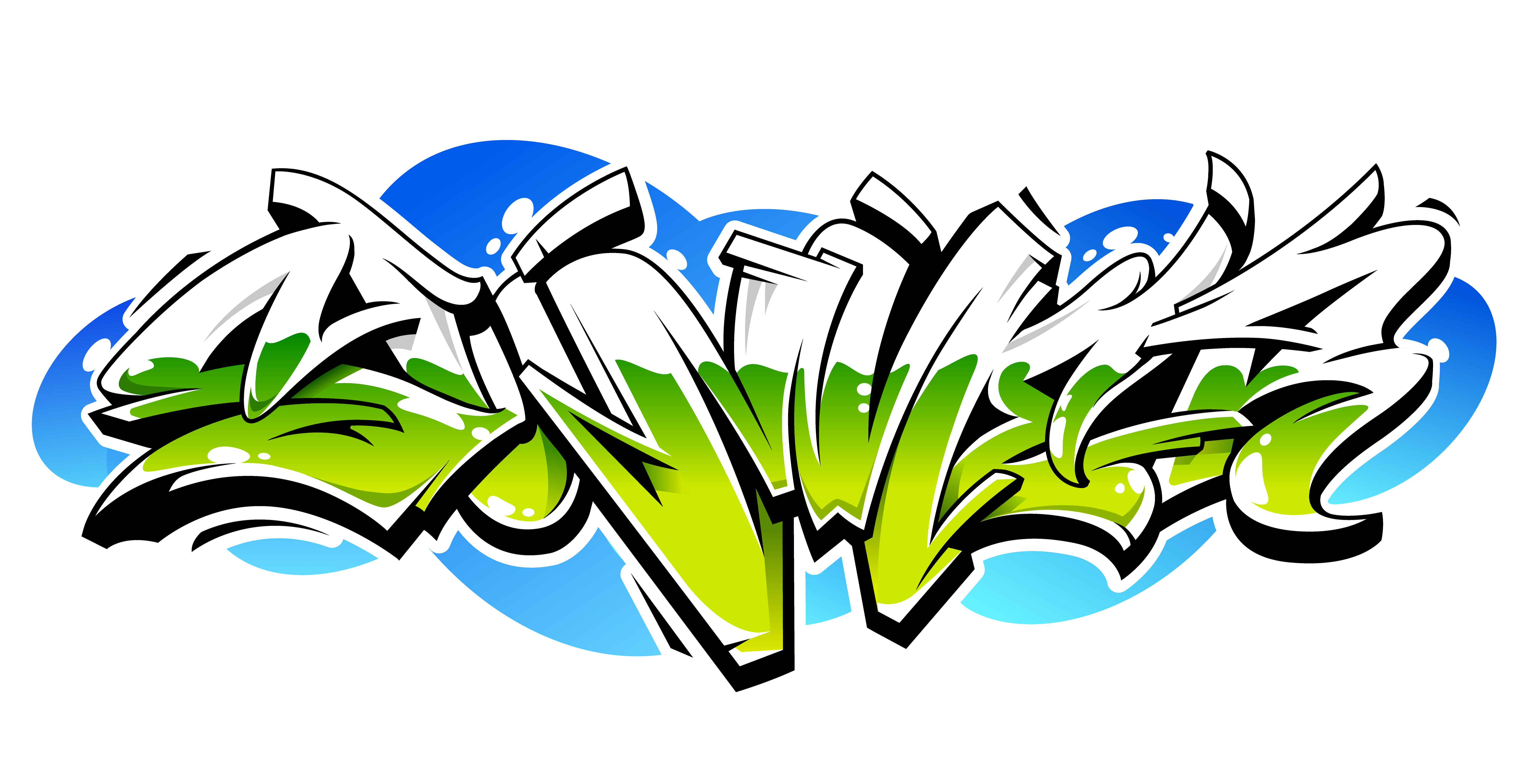 Summer graffiti vector lettering