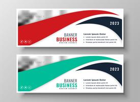 modern red and turquoise business banners set
