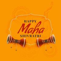 conception de voeux de festival de maha shivratri