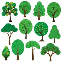 textured trees clipart vector