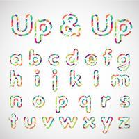 Set di caratteri colorati, illustrazione vettoriale
