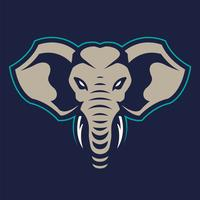 Elephant Mascot Vector Icon