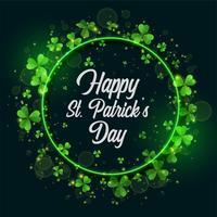 green st patricks day frame background