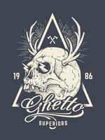 Skull Print Vector