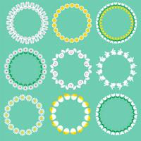 Easter circle frames vector