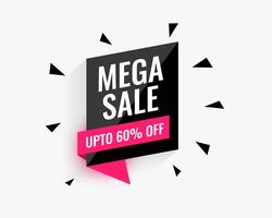 mega sale banner design for your business promotion