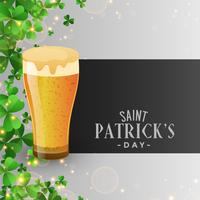 beer glass st patricks day background