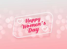 elegant happy women's day greeting design
