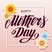 Mother's Day Greeting Card Retro Design