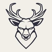 Deer Mascot Vector Icon