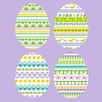 Easter eggs with stripe patterns