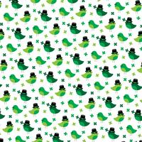 Saint Patricks Day schattige vogels en klaver patroon